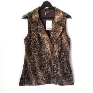 NWT UO Sparkle & Fade Brown Snake Print Vest Top